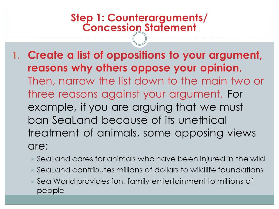 Crafting Your Counterargument And Rebuttal ParagraphS  Ppt Video