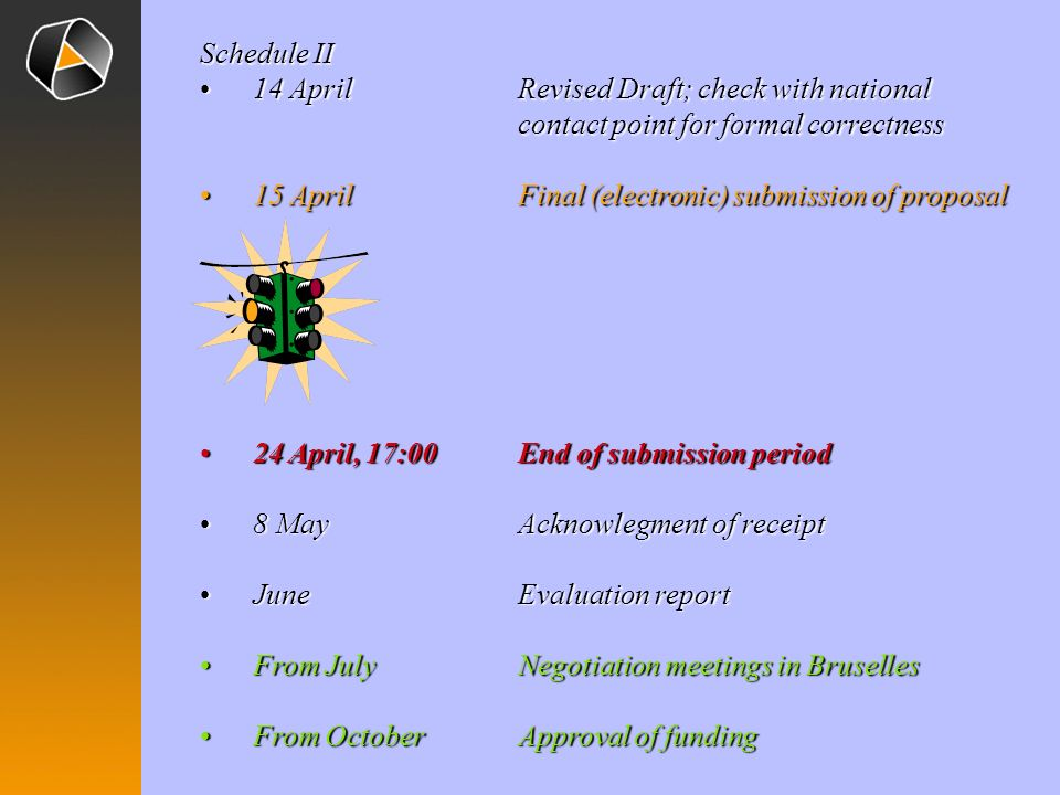 Schedule II 14 April Revised Draft; check with national contact point for formal correctness.