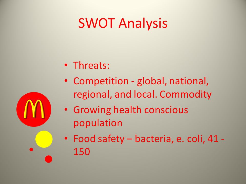 swot analysis healthy fastfood restaurant Burger king's swot analysis is shown in in the quick service/fast food restaurant industry is partly healthy lifestyles trend burger king faces the.