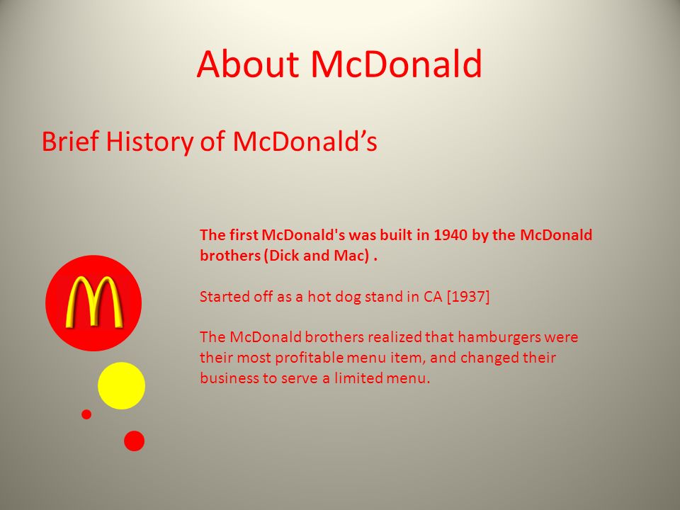 the history of mcdonald's Since its founding in 1948, mcdonald's has grown from a family burger stand to a global fast-food behemoth, with more than 30,000 locations in 118 countries.