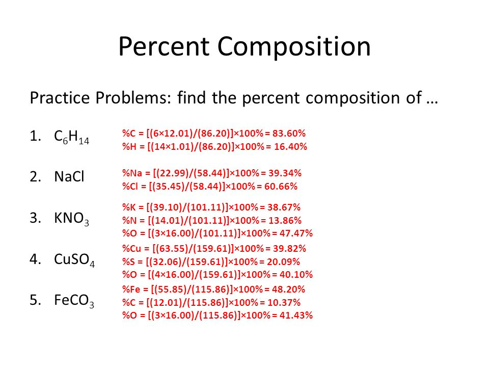 percent composition and chemical formulas ppt video