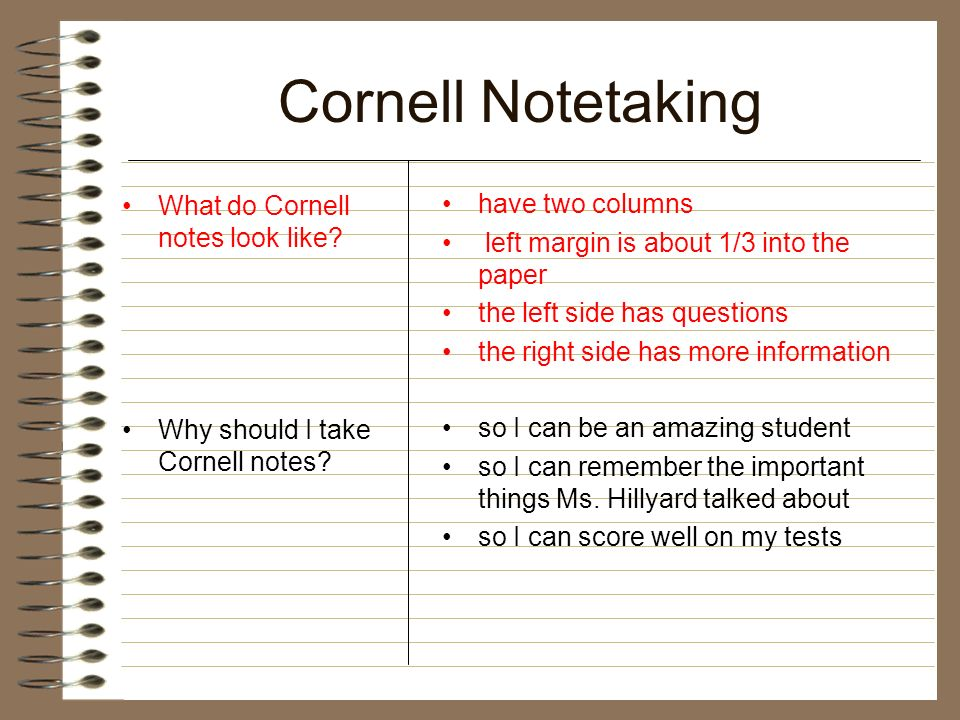 how to do cornell notes pdf