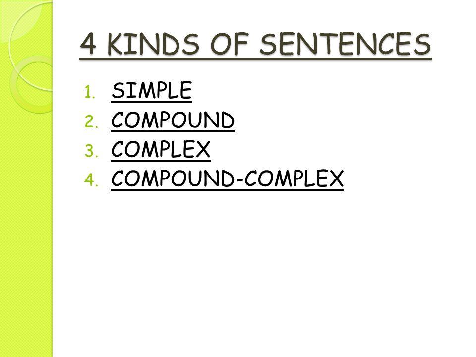 types of sentences simple compound complex compound complex pdf