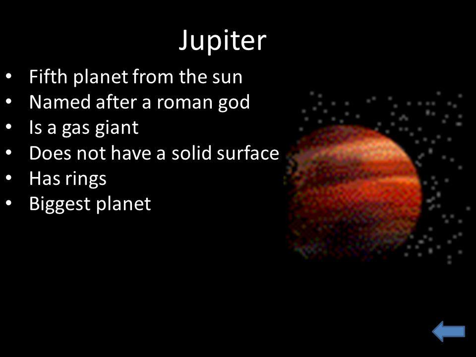 jupiter fifth planet - photo #25