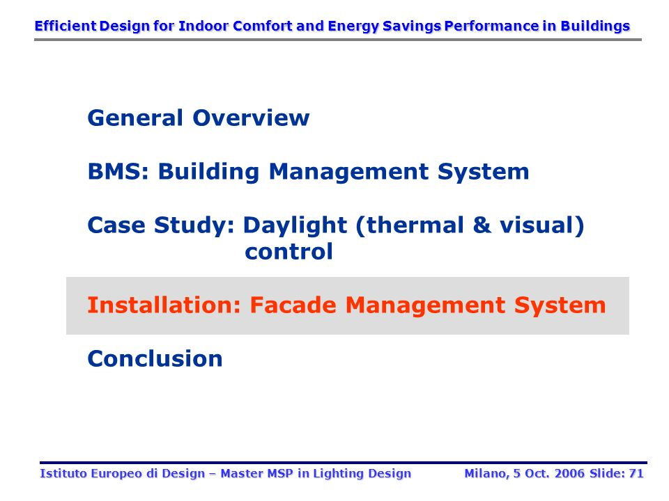 BMS: Building Management System