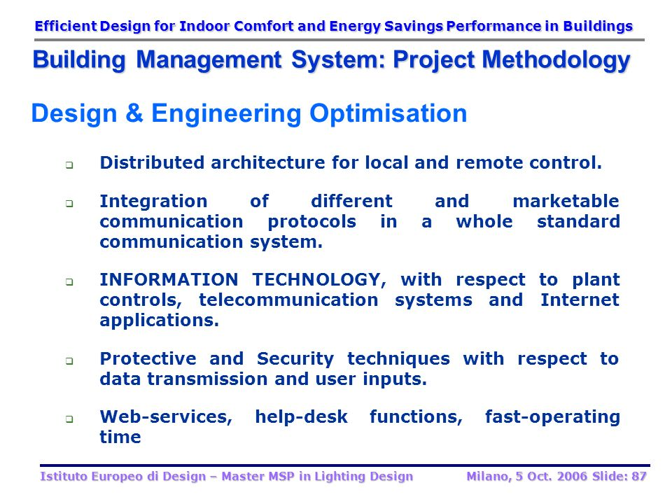 Design & Engineering Optimisation