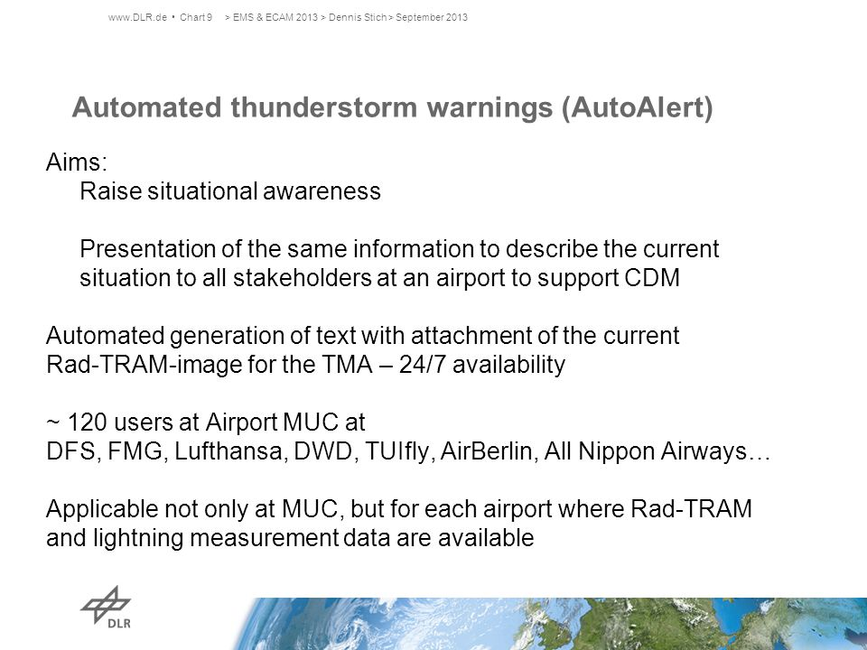 Automated thunderstorm warnings (AutoAlert)