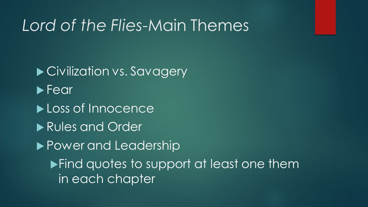 Loss Of Innocence Lord Of The Flies English Literature Essay