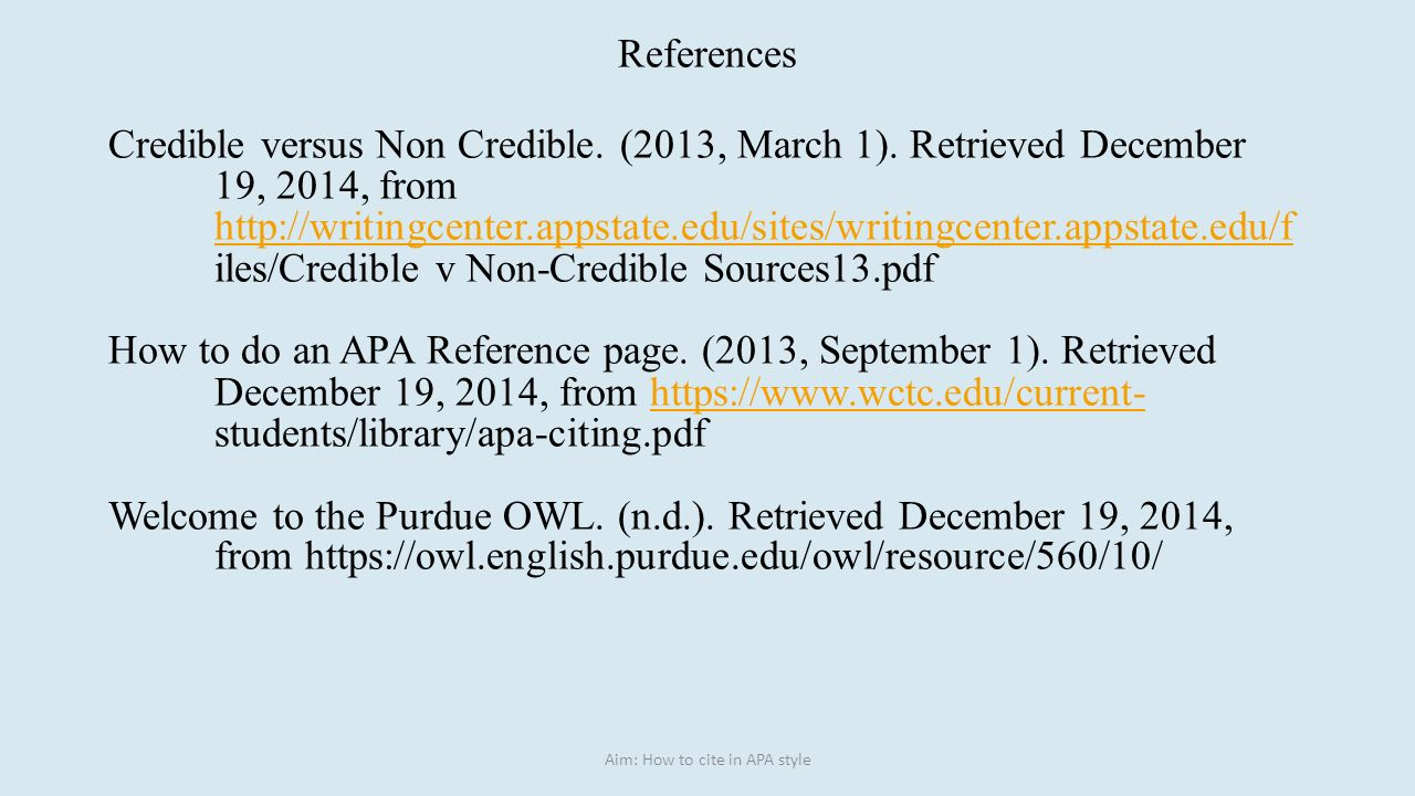 How to cite references apa style