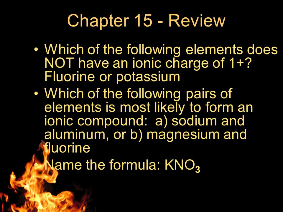 """Chapter 15 – Review """"Ionic Bonding and Ionic Compounds"""" - ppt download"""