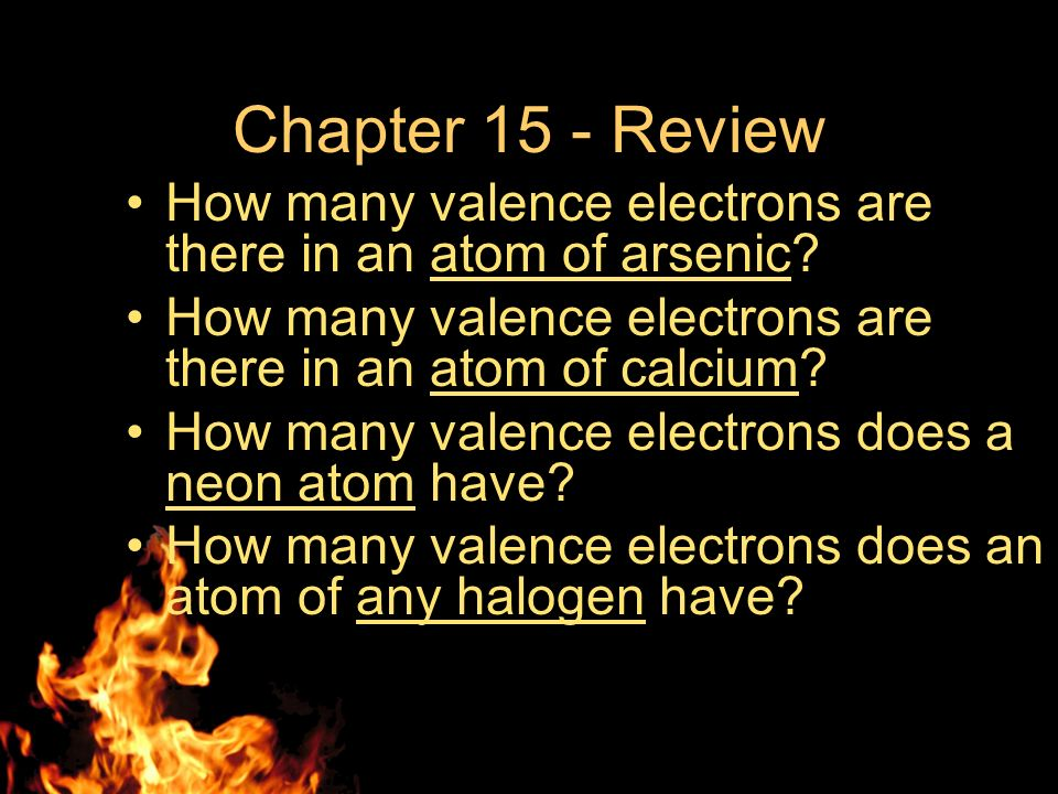 how to know valence electrons