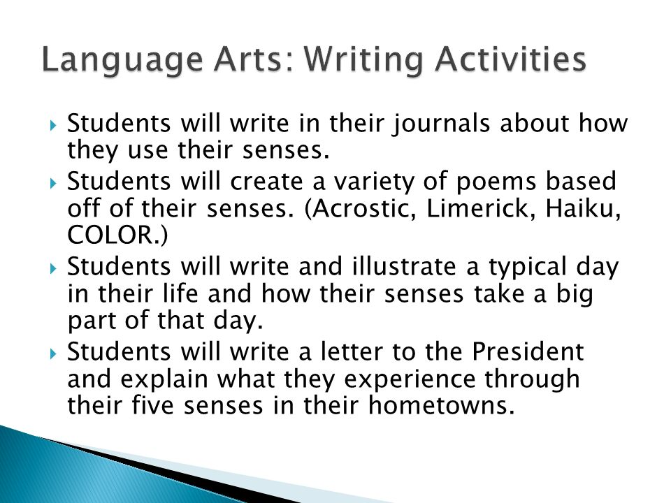 Write a Letter to the President