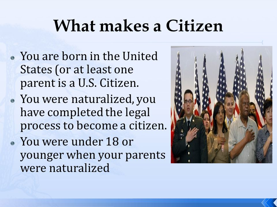 an overview of the rights of a united states citizen Aspe issue brief overview of  equal rights advocates perreira  an immigrant is a foreign-born person who is not a citizen of the united states per the.