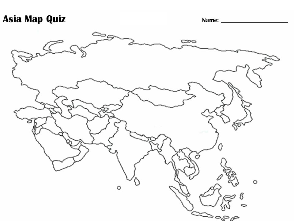 Quiz On Physical Map Of Asia 53