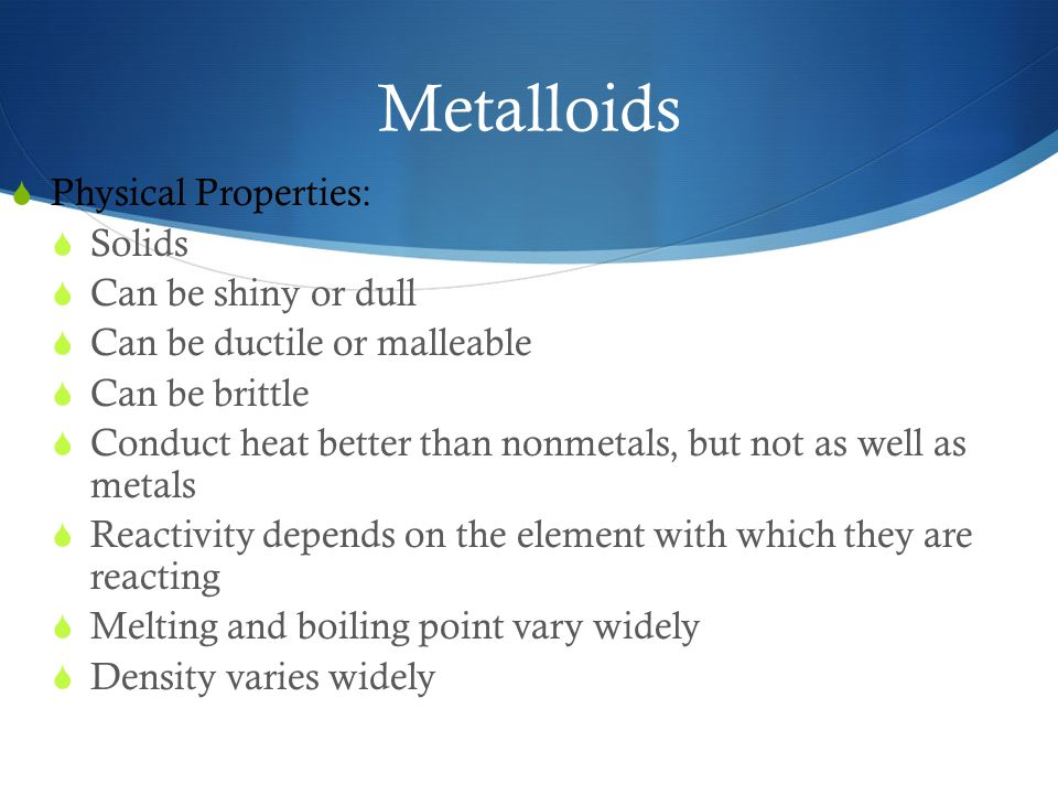 Physical Properties Of An Element
