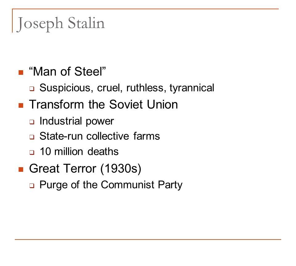 statlin a man of terror essay