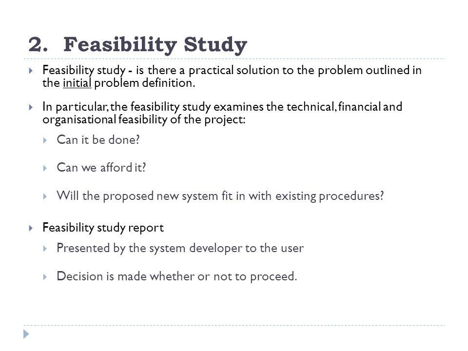 Feasibility study financial definition of feasibility study