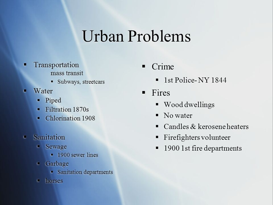 Ch 7 2 Challenges Of Urbanization Ppt Download