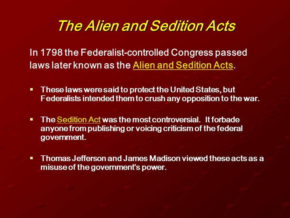 Sedition Act of 1918