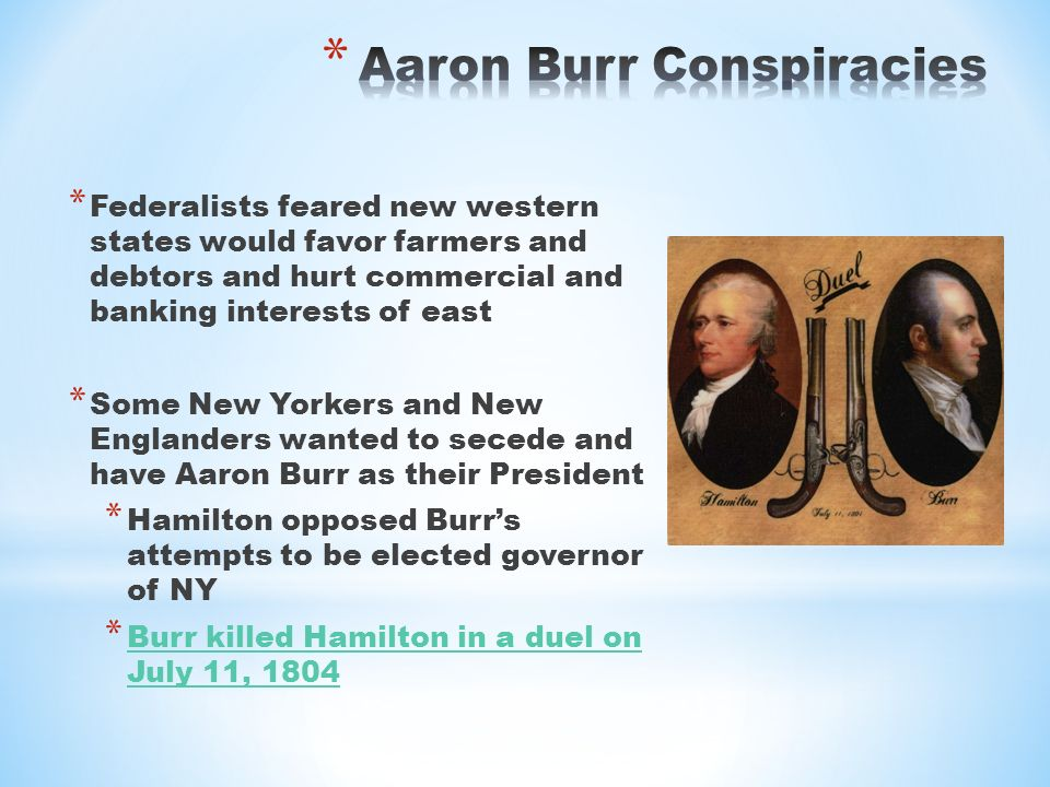 an analysis of the burr conspiracy Read and download burr conspiracy free ebooks in pdf format - adolescence development diversity context and application adolescence transition from childhood to maturity adolescent problem behaviors issues and.