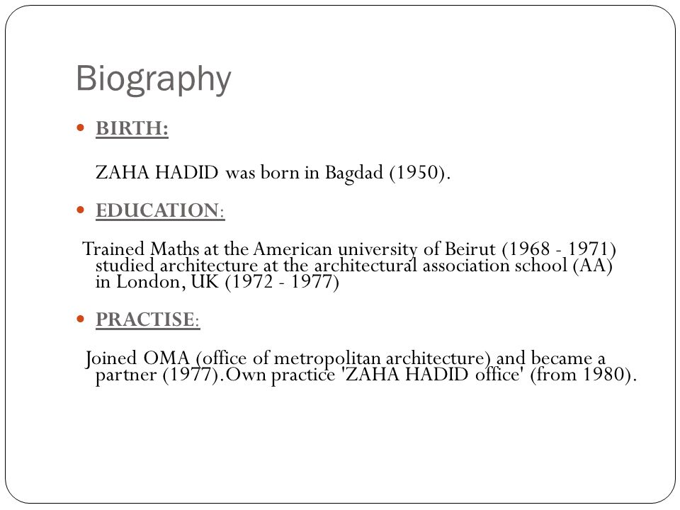 Zaha Hadid Philosophy zaha hadid piyush jalan. - ppt download