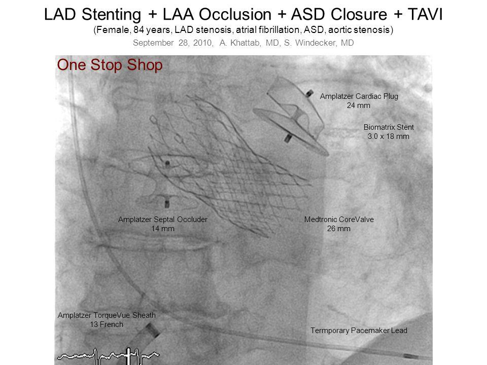 LAD Stenting + LAA Occlusion + ASD Closure + TAVI