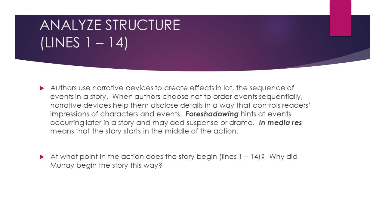 ANALYZE STRUCTURE (LINES 1 – 14)