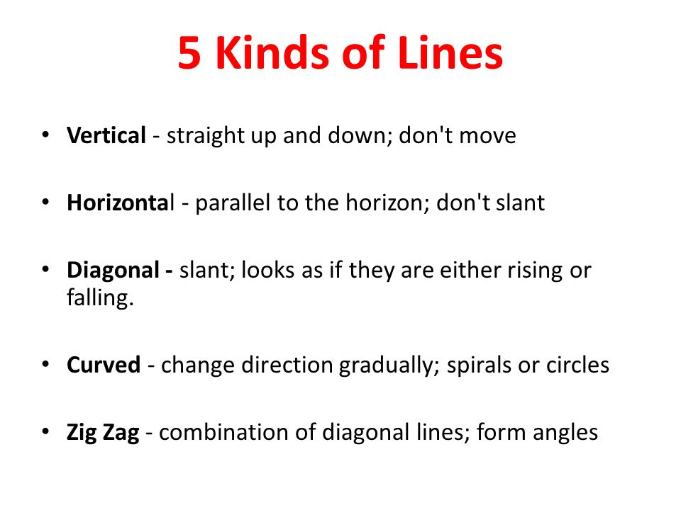 Diagonal Line Definition In Art : Define line a mark drawn with pointed moving tool ppt