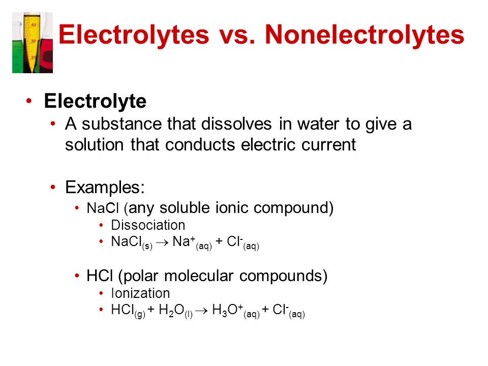 conductivity of ionic solutions - 6 - what is a conductive solution conductivity is typically measured in aqueous solutions of electrolytes electrolytes are substances containing ions, ie solutions of ionic salts.