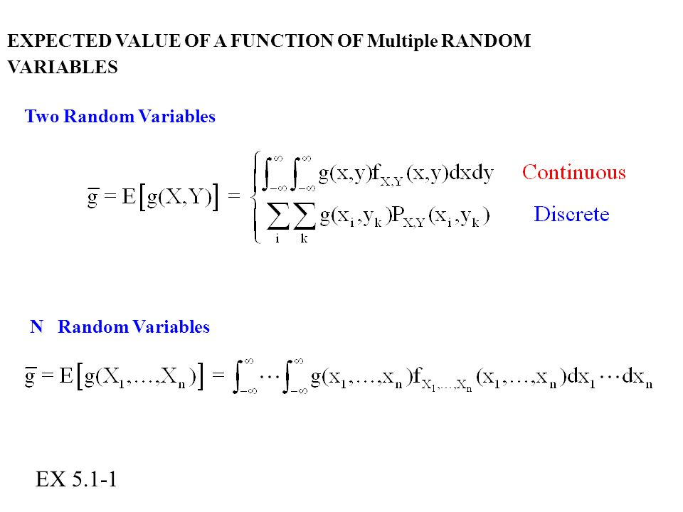 how to find expected value of random variable