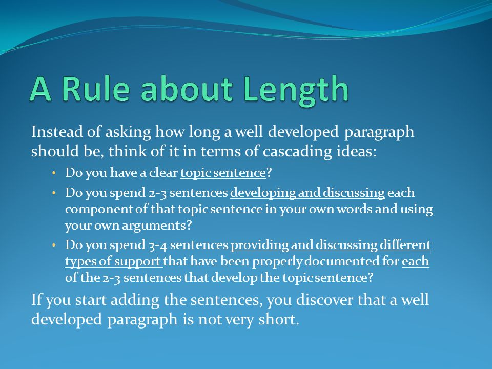 how long is a thesis paragraph Length requirements: how long should a thesis statement be by looking at the title , we can see that a thesis statement is a concise summary of the main claim it should be a single, complete sentence.