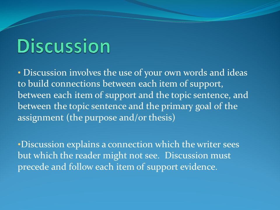 writing discussion essays