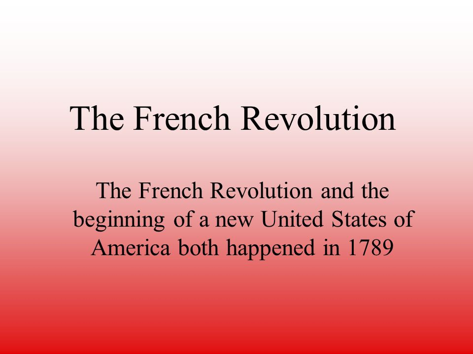 a research on the french revolution