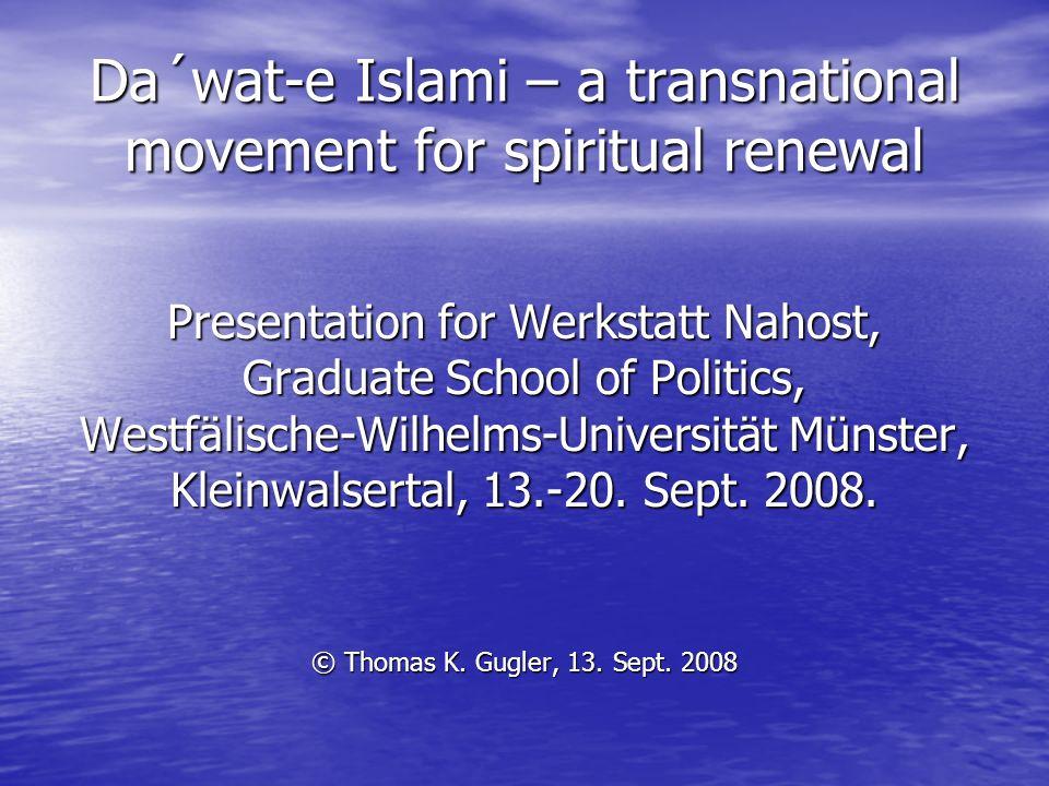 Da´wat-e Islami – a transnational movement for spiritual renewal