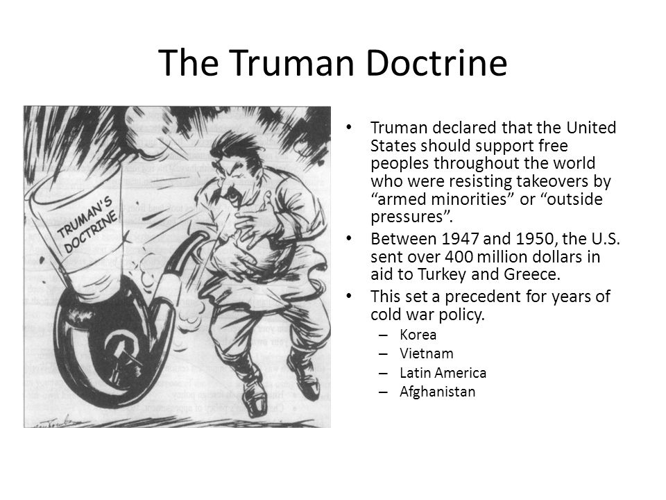 an analysis of the truman doctrine in united states Free essay: the truman doctrine the thirty-third president of the united states initiated great change within our country harry s truman, the creator of.