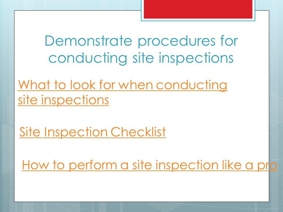 the importance of having site inspections You may be tempted to skip the home inspection and its []  (this step is  important when purchasing a property because it may save you thousands for  more  (for more, see 10 tips for getting a fair price on a home.