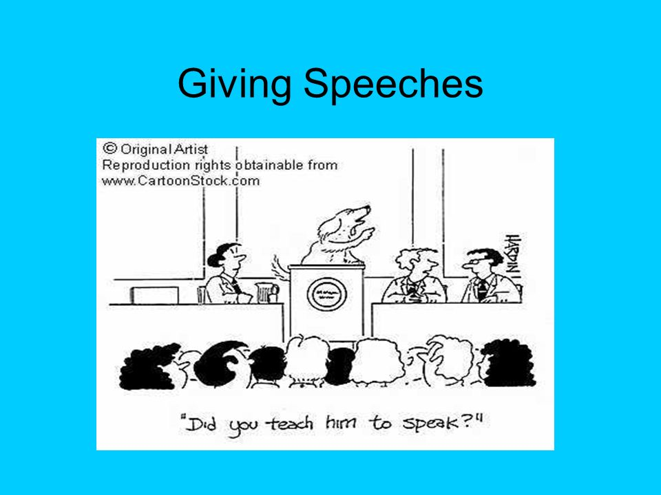 To give a speech