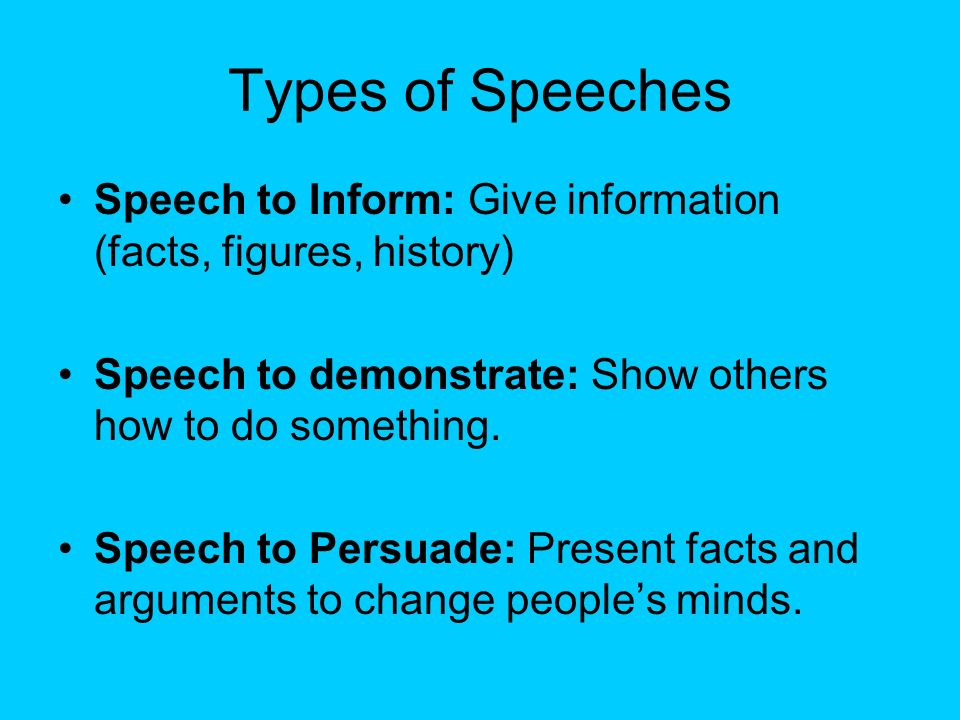 speech to inform The speech to inform the audience on a 131 functions of the presentation to inform by university of minnesota is licensed under a creative commons attribution.