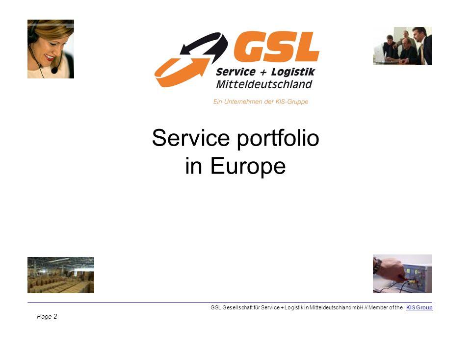 Service portfolio in Europe Page 2