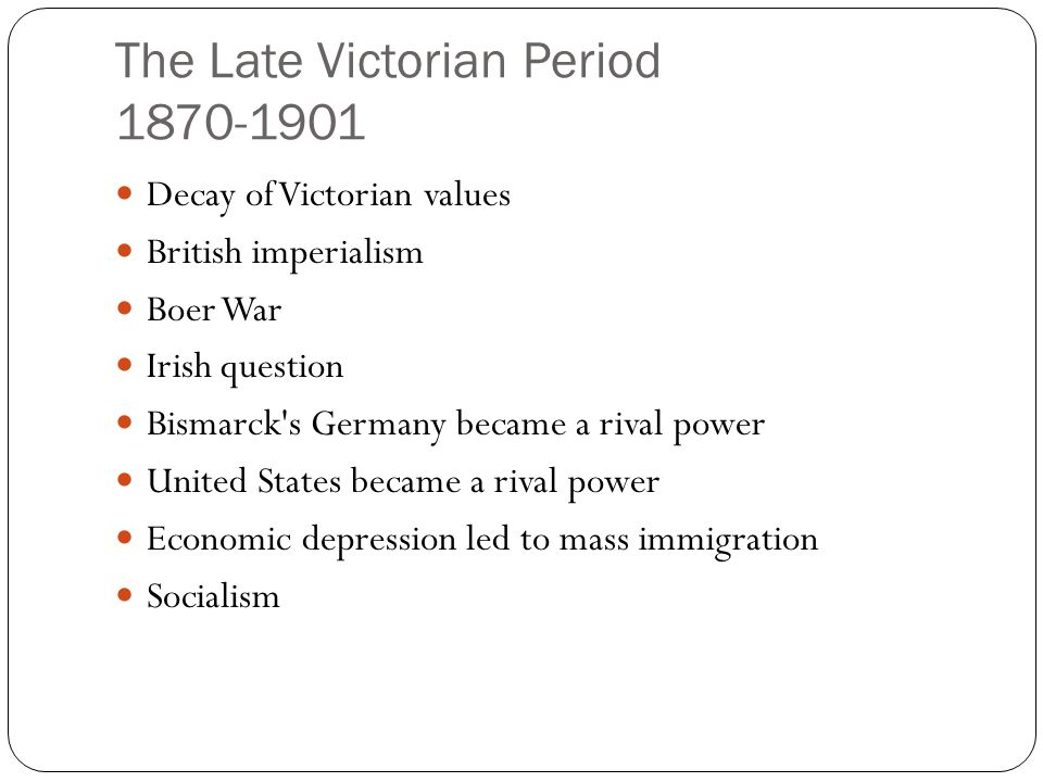 An introduction to the history of the victorian age