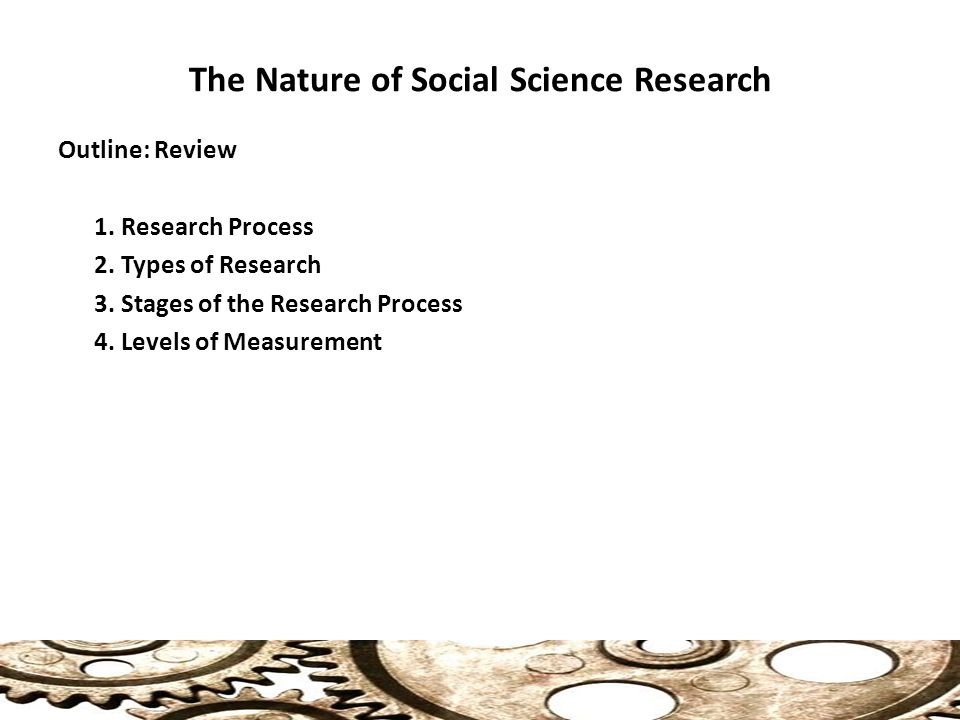 characteristics of social science research For health science students research  terms and characteristics of research in general  to make meaningful participation in the social and.