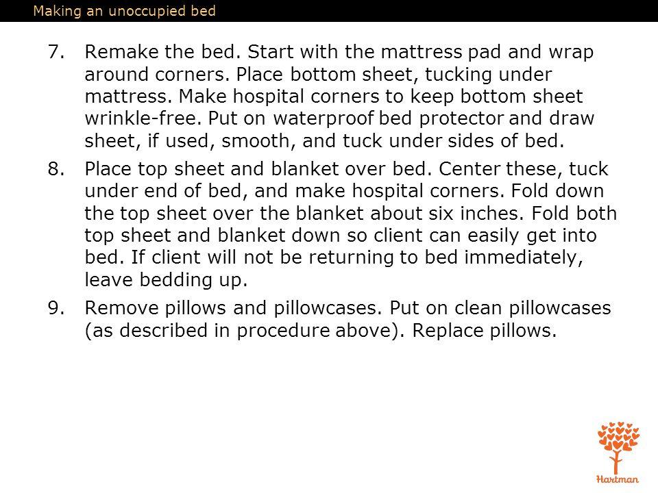 Bed Sheet Wrinkle Remover In Housekeeping