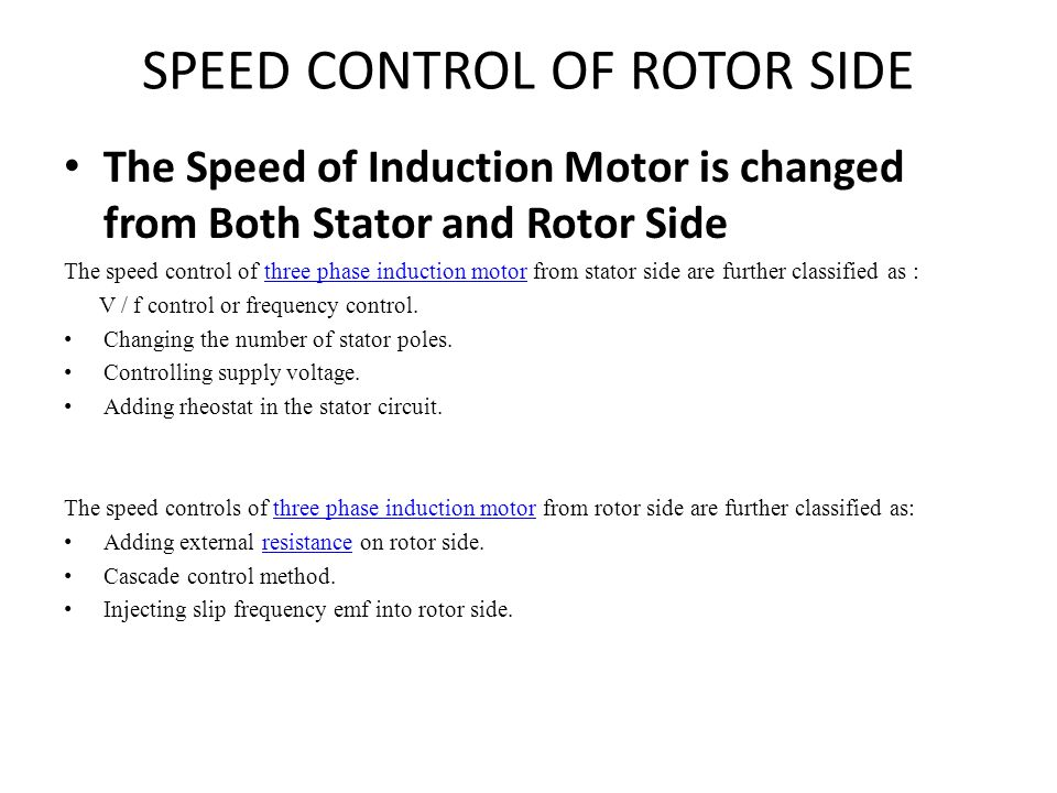 Starting of 3ph induction motor ppt video online download for Speed control of induction motor