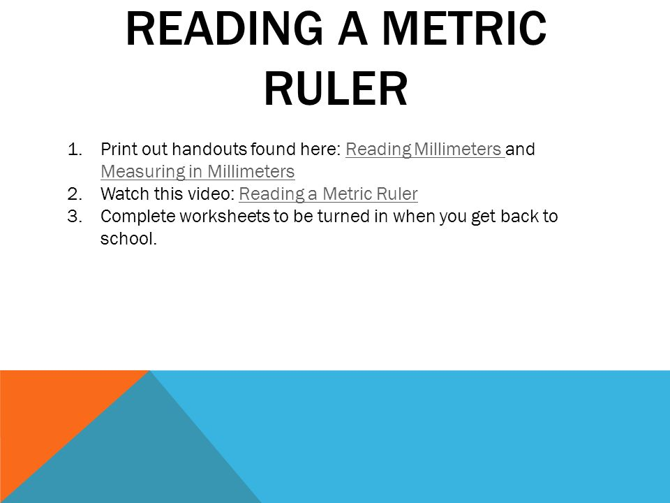 A look into the 2 different systems ppt download – Reading a Metric Ruler Worksheet