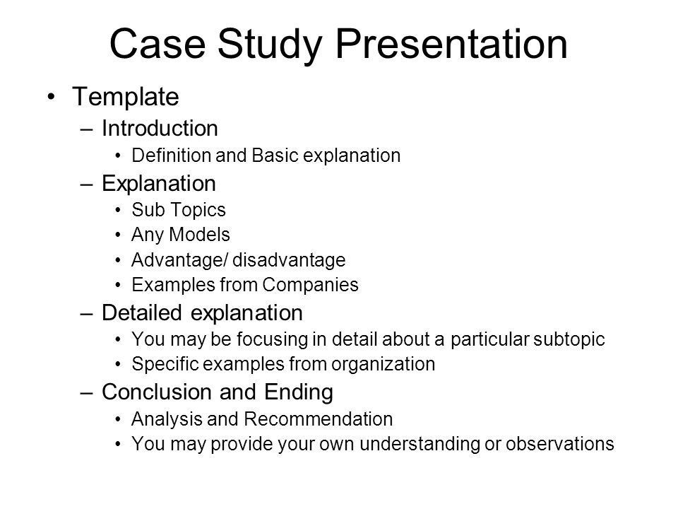 case study presentation mad about plaid Candidates whose written management case studies are assessed as  satisfactory will be required to orally present their management case.