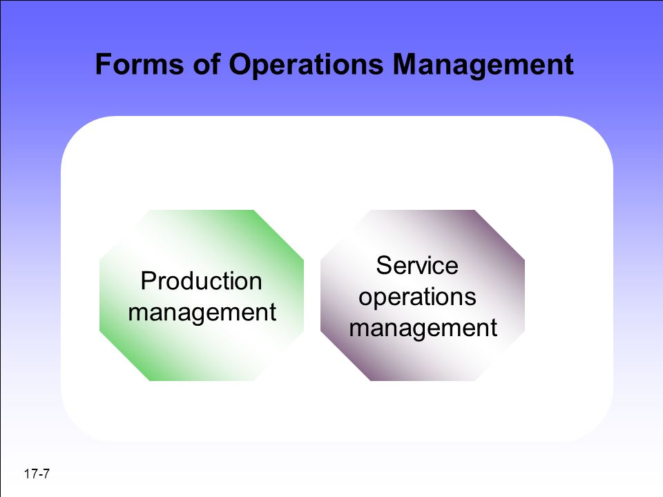 similarities and differences operations management Similarities and differences  key issues for management and  party disclosures segment reporting discontinued operations post-balance-sheet events.