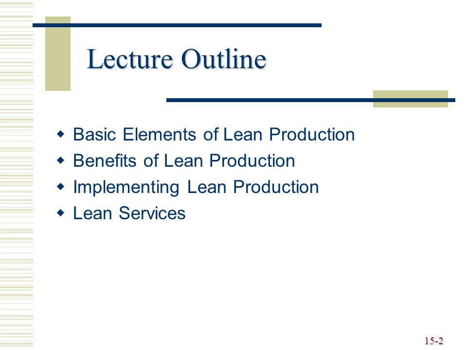 elements of lean production essay The story of lean production (womack et al lean software development: a subset of lean product development search lean essays subscribe to lean essays.