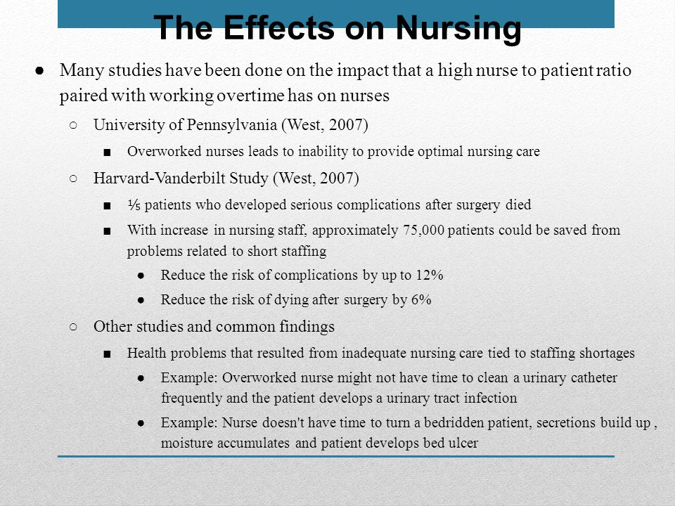 health policies relation nurse patient ratio 1 nurse-to-patient ratios, by katharine kranz lewis, rn, msn, mph executive summary the massachusetts state legislature is considering a number of approaches to address patient safety including a law establishing minimum registered nurse (rn) staffing ratios in the hospital.