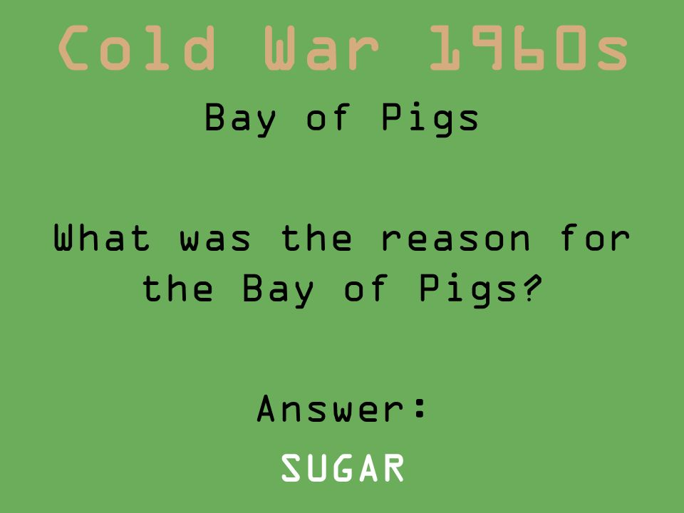 Bay Of Pigs Political Cartoon Cold War