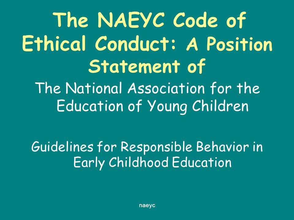 naeyc code of ethics